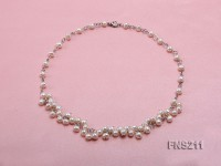 6.5mm natural round freshwater cultured pearl necklace