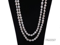 11x13mm white flat freshwater pearl necklace