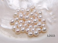 Wholesale 8.5x10mm Classic White Drop-shaped Loose Freshwater Pearls