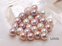 Wholesale 14X15mm Classic Pink/Lavender Oval Loose Freshwater Pearls