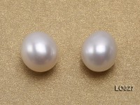 Wholesale 8x9mm Classic White Drop-shaped Loose Freshwater Pearls