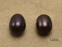 Wholesale 10x12mm Black Drop-shaped Loose Freshwater Pearls