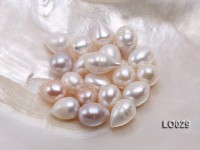 Wholesale Super-size 14x18mm Classic White Drop-shaped Loose Freshwater Pearls