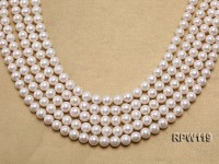 Wholesale 9-10mm Classic White Round Freshwater Pearl String