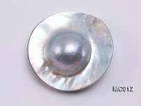 Wholesale 30mm Grey Dome-shaped Loose Mabe Pearl