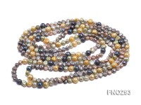 5-8mm multicolor flat freshwater pearl necklace
