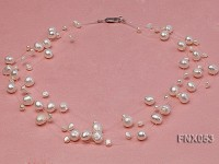 8-10mm White Cultured Freshwater Pearl Galaxy Necklace