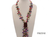 7-9mm multicolor pearl two-strand necklace