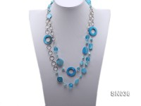 Shell, Freshwater Pearl and Crystal Opera Necklace
