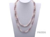 8-9mm multicolor baroque freshwater pearl necklace