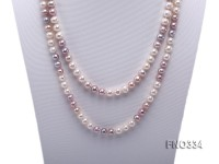 8-9mm multicolor baroque freshwater pearl necklace