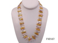 Classic 7x20mm Colorful Freshwater Pearl Sticks Necklace