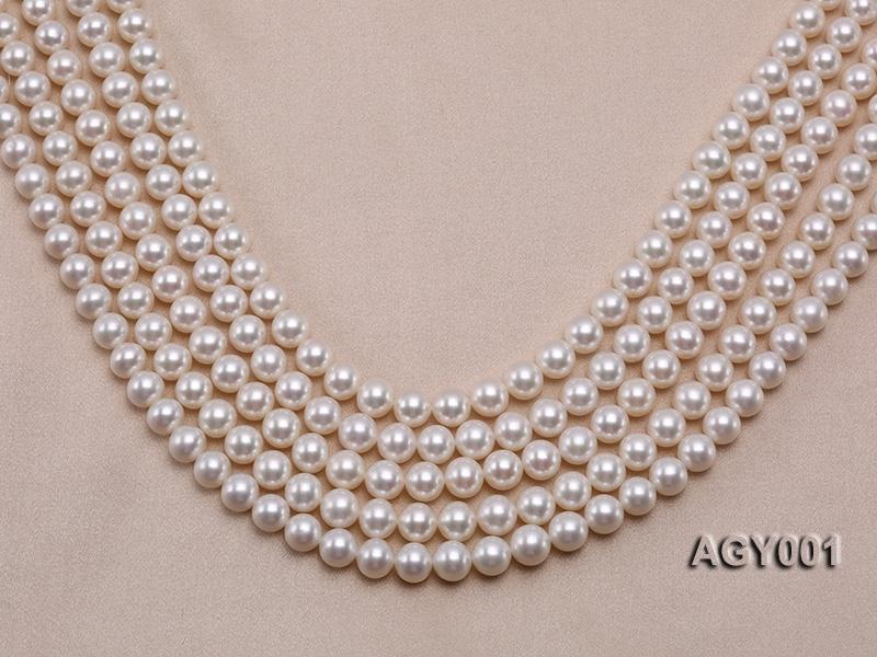 AAAAA 9-10mm White Akoya Pearl String