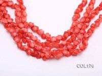 Wholesale 6x10mm Flower-shaped Red Coral Beads Loose String