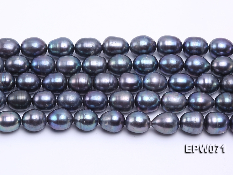 Wholesale 12x14mm Peacock Rice-shaped Freshwater Pearl String