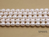 Wholesale 10×12.5mm Classic White Rice-shaped Freshwater Pearl String