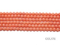 Wholesale 7mm Lantern-shaped Orange Coral Beads Loose String