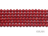 Wholesale 6mm Round Red Coral Beads Loose String