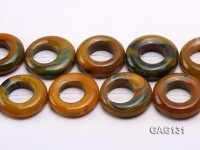 wholesale 45-50mm ring-shaped agate loose strings