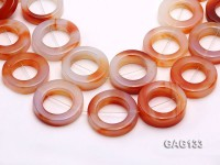 wholesale 37mm red ring-shaped agate loose strings