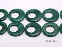 wholesale 45-58mm green ring-shaped agate loose strings