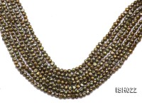 Wholesale 4x7mm Olive Side-drilled Cultured Freshwater Pearl String