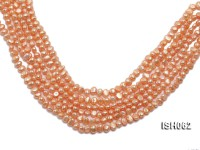 Wholesale 7x9mm Orange Side-drilled Cultured Freshwater Pearl String