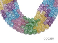 Wholesale 12mm Round Multi-color Simulated Crystal Beads String