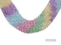 Wholesale 8mm Round Multi-color Simulated Crystal Beads String