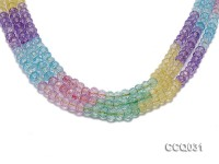 Wholesale 6x8mm Oval Multi-color Faceted Simulated Crystal Beads String