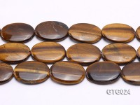 Wholesale 30x40mm Oval Tigereye Pieces Strings