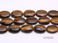 wholesale 24x30mm Oval Tigereye Pieces Strings