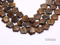 Wholesale 25mm Star-shaped Tigereye Strings