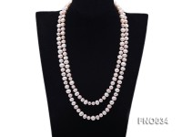 8-9mm colorful round freshwater pearl necklace