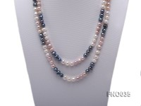 7-8mm colorful round freshwater pearl necklace
