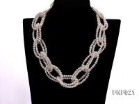 4-5mm Freshwater Pearl and Crystal Beads Necklace