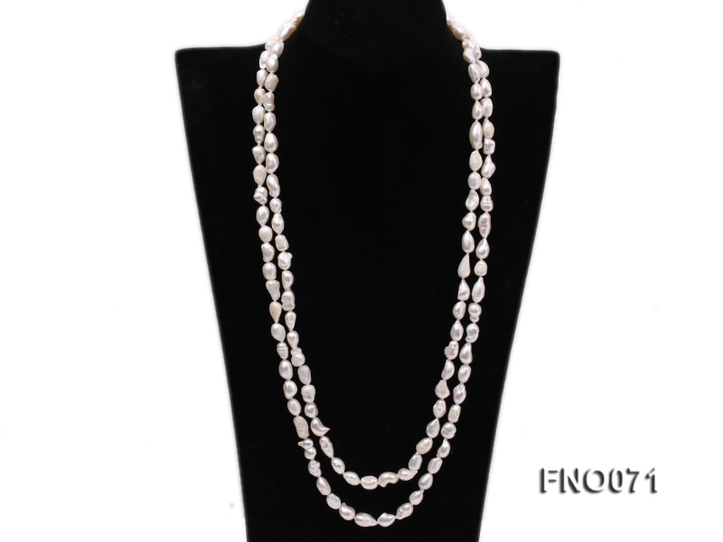 8x12mm white baroque freshwater pearl necklace