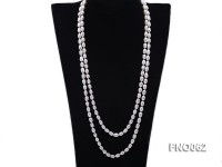 7x9mm white oval freshwater pearl necklace