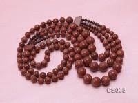 Round Goldstone Beads Necklace