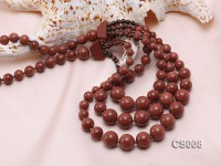 Round Goldstone Beads Necklace