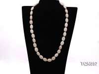 14x20mm white Cylindrical Turquoise Necklace