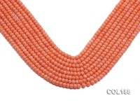 Wholesale 4x5mm Orange Flat Coral Beads Loose String