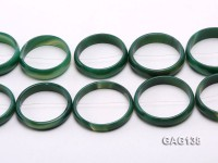 wholesale 50mm green ring-shaped agate loose strings