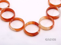 wholesale 50mm red ring-shaped agate loose strings