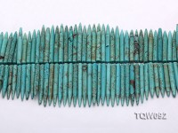 Wholesale 5x25mm-5x50mm Needle-shaped Blue Turquoise Sticks String