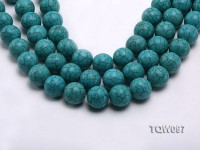 Wholesale 20mm Round Blue Turquoise Beads String