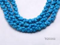 Wholesale 8×12.5mm Bone-shaped Blue Turquoise Beads String