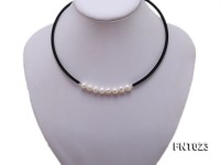 8-9mm White Cultured Freshwater Pearl Necklace and Bracelet