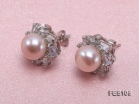 10mm Lavender Flat Freshwater Pearl Earrings
