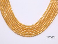 Wholesale 5mm Golden Round Freshwater Pearl String